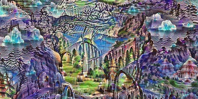 Exemplo de imagem gerada pelo algoritmo do Google Deep Dream (Foto:Reprodução/Google)
