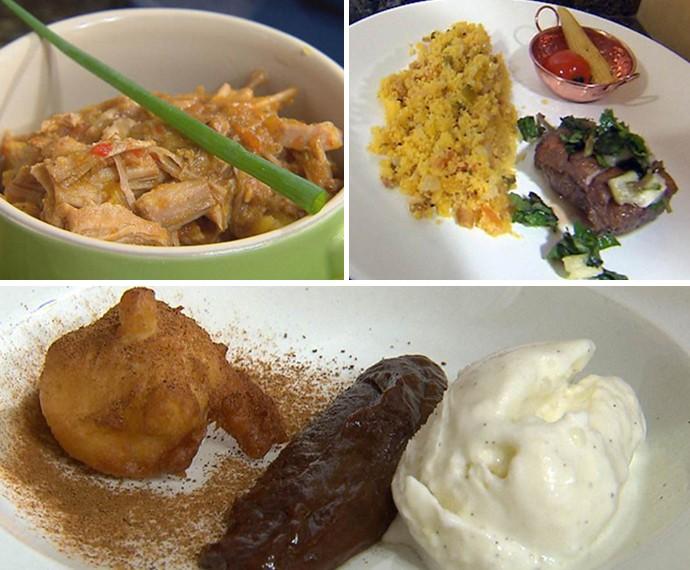 No Jogo de Panelas, Léo serve pratos inspirados no Sítio do Picapau Amarelo (Foto: Mais Você/Gshow)