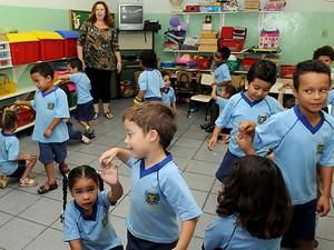 Alunos que estudam na rede de educação infantil em Campinas (Foto: Valéria Abras/ Divulgação Prefeitura de Campinas)