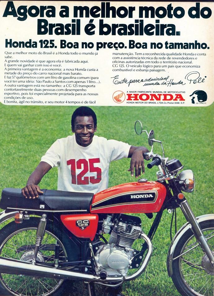 Anúncio antigo da Honda CG 125
