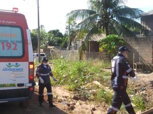 Uma equipe do Samu foi acionada e chegou a socorrer a garota, que morreu no Hospital Regional de Ariquemes.   (Foto: Balanço Notícias/Reprodução)