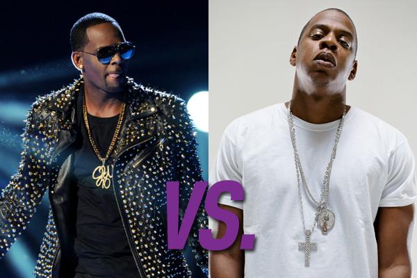R. Kelly vs. Jay Z (Foto: Divulgação)