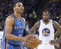 Sem se falarem em jogo, Westbrook e Durant evitam troca pública de farpas