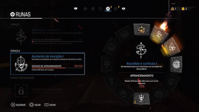 Doom: runas são acessórios equipáveis no novo shooter (Foto: Reprodução/Victor Teixeira)