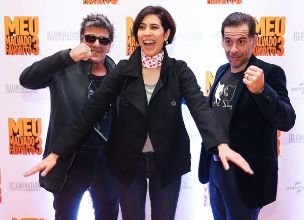 Evandro Mesquita, Maria Clara Gueiros e Leandro Hassum integram time de dubladores da animação (Foto: Manuela Scarpa/Brazil News)