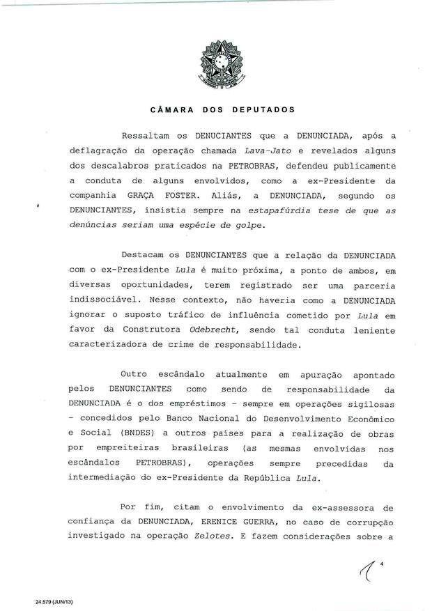 4 - Leia íntegra da decisão de Cunha que abriu processo de impeachment (Foto: Reprodução)