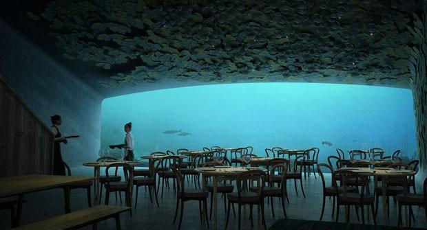 Europa terá o primeiro restaurante submerso do continente (Foto: DIVULGAÇÃO)