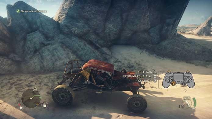 Mad Max tem veículos como importante parte do jogo (Foto: Reprodução/Felipe Vinha)