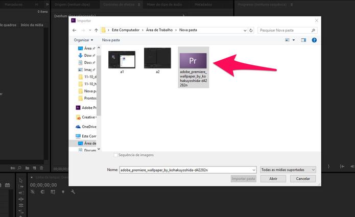Selecione o arquivo que será importado (Foto: Reprodução/Lucas Mendes)