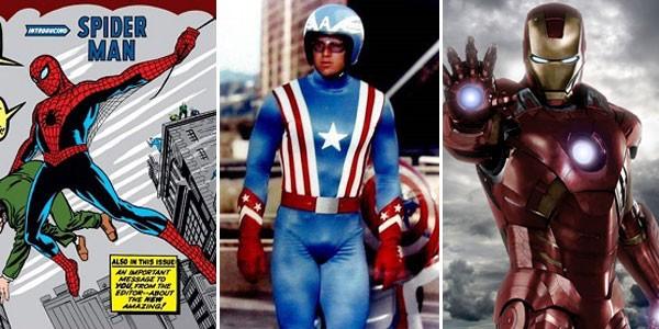 Homem-Aranhas nos quadrinhos, Capitão América na TV e Homem de Ferro no cinema (Foto: Divulgação)