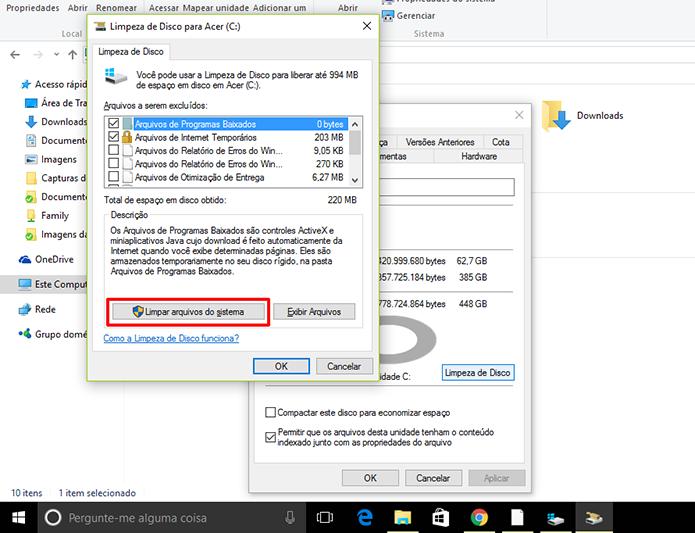 Windows tem sessão separada para arquivos do sistema (Foto: Reprodução/Elson de Souza)