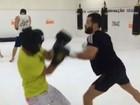 Malvino Salvador luta boxe: 'Mais um treininho!'