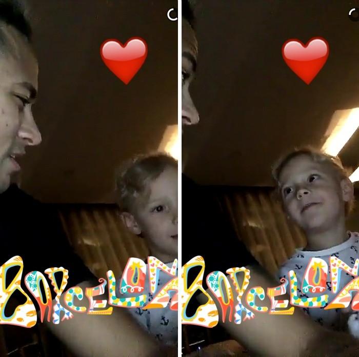BLOG: Depois de cantar com o filho, Neymar mostra Davi Lucca dormindo