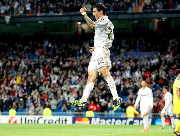 Di Maria comemora gol do Real Madrid contra o APOEL (Foto: AP)