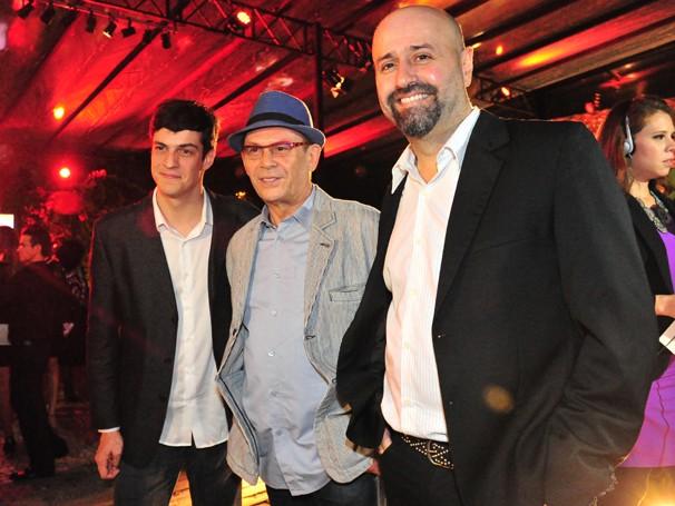 Mateus Solano, José Wilker e Mauro Mendonça Filho (Foto: Mariana Cardoso/ TV Globo)