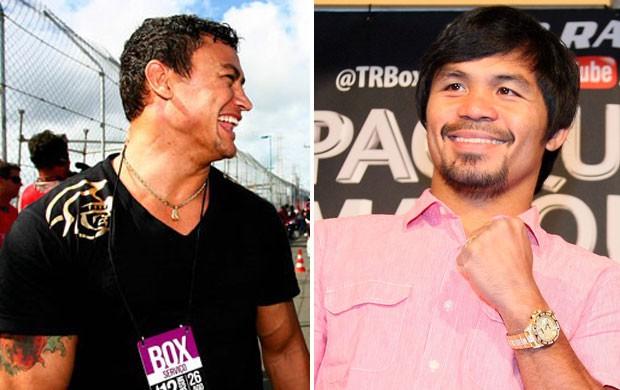 Popó x Manny Pacquiao (Foto: Editoria de Arte/Globoesporte.com)