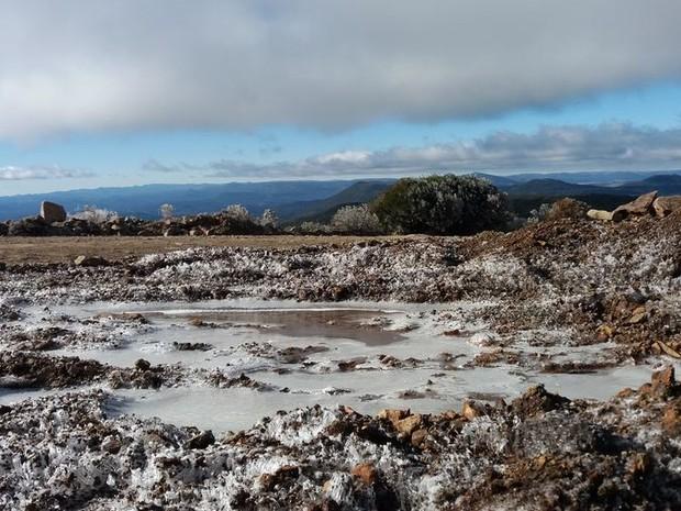 Semana começa gelada em Santa Catarina (Foto: Angélica Ruschel/Divulgação)