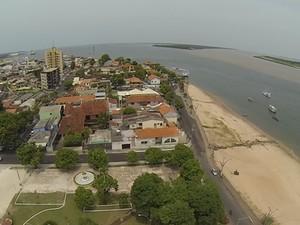 O município de Santarém será um dos pólos de  armazenagem de produtos fabricados na ZFM. (Foto: STC no ar)
