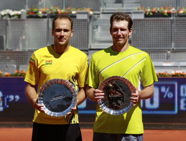 Bruno Soares e Alexander Peya contra irmãos Bryan Masters 1000 de Madri (Foto: A.Martinez / Mutua Madrid Open)