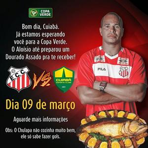 Aloísio Chulapa vai preparar dourado assado para o time do Cuiabá (Foto: Reprodução/Instagram)