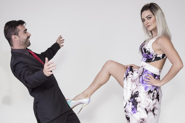 Laura Keller e Jorge Spusa comemoram Dia dos Namorados (Foto: Marcos Mello/Divulgação)