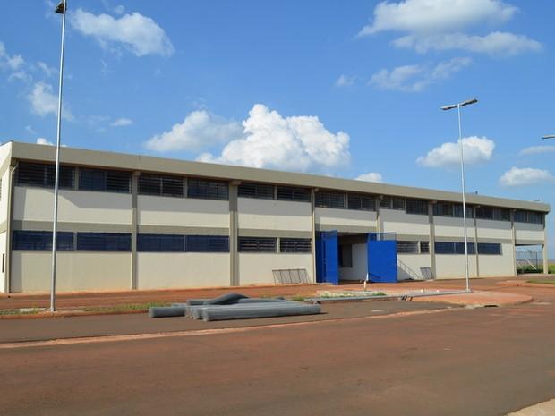 Entrada de penitenciária em Piracicaba (Foto: Thomaz Fernandes/G1)