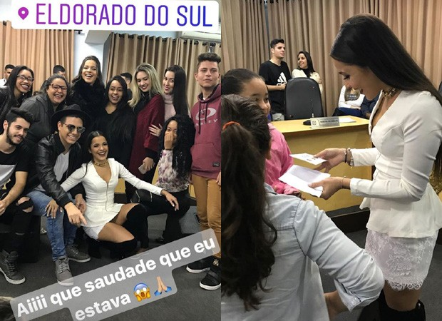 Emilly Araújo recebe homenagem (Foto: Reprodução/Instagram)