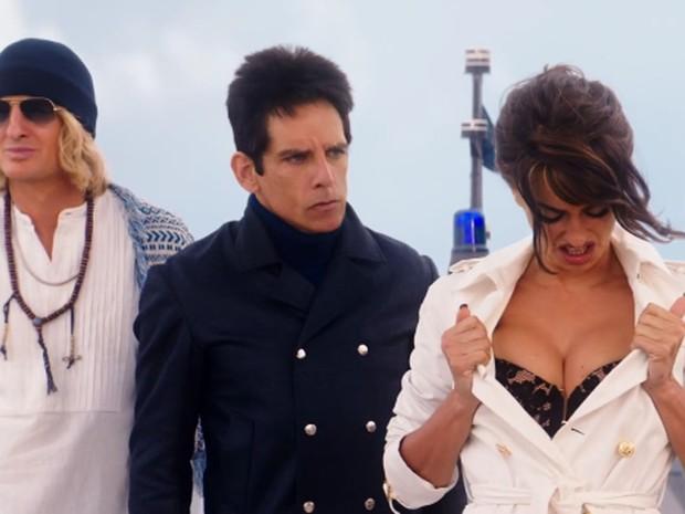 Cena de 'Zoolander 2', com Owen Wilson, Ben Stiller e Penélope Cruz (Foto: Divulgação)