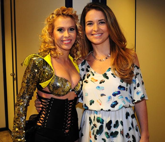 Joelma participou da novela ao lado de Chayene, personagem da atriz Cláudia Abreu (Foto: TV Globo)