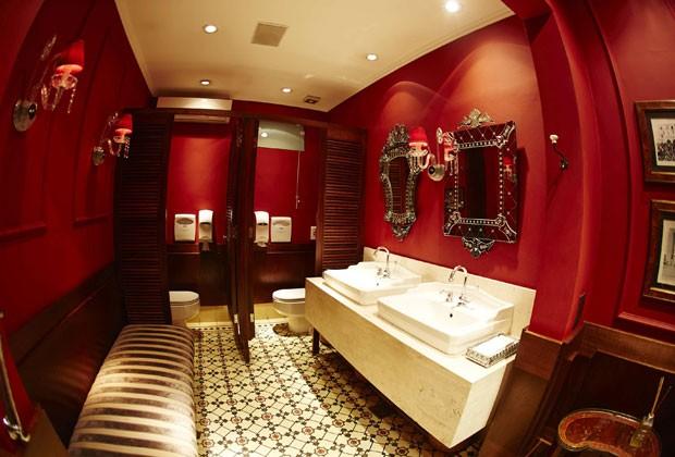 Banheiro do bistrô Chef Rouge é um dos 26 estabelecimentos selecionados pela Neve (Foto: Divulgação)