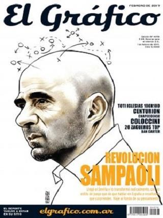 Jorge Sampaoli revista El Gráfico (Foto: Reprodução)