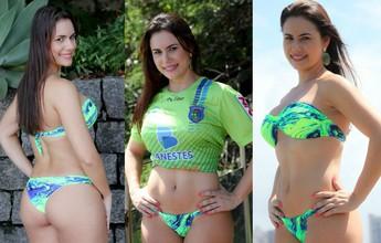Juliana Badiani, representante do Linhares, vence o 'Musa do Capixabão'