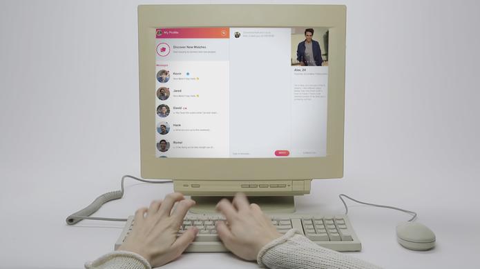Tela de mensagens do Tinder Online é mais amigável para conversar que no celular (Foto: Divulgação/Tinder)