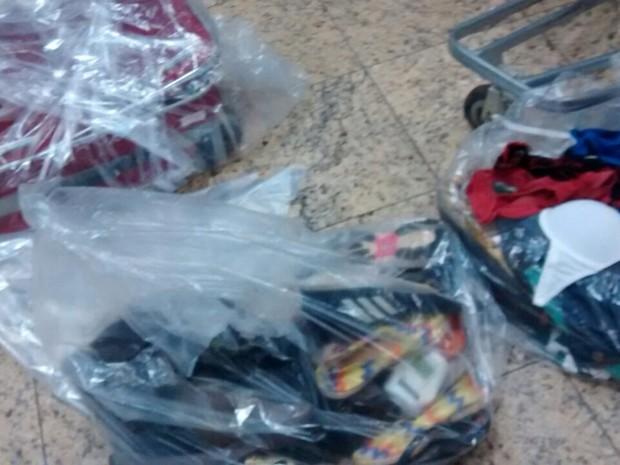 Passageira afirma que mala estava com formol (Foto: Marcella Gozzi/ Arquivo pessoal)