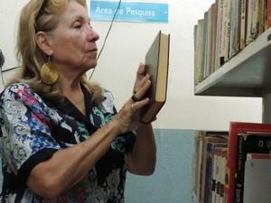 Já aposentada, Ivete diz que já perdeu a contas de quantos livros já leu (Foto: Caio Gomes Silveira/ G1)