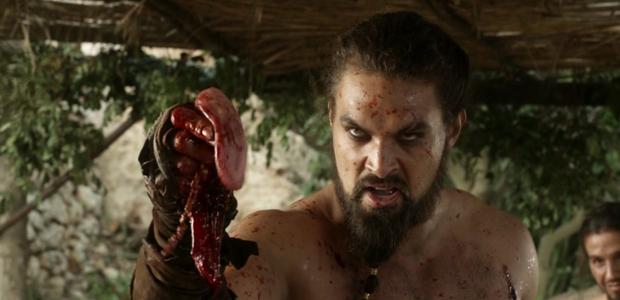 Jason Momoa como Khal Drogo em Game of Thrones (Foto: reprodução )