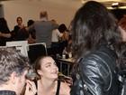 Michelle Rodriguez acompanha Cara Delevingne em Milão