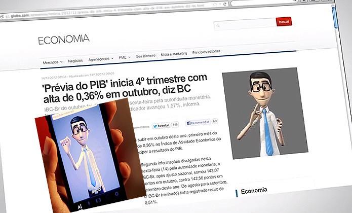 O Hand Talk converte conteúdo para a Língua Brasileira de Sinais, a Libra. O app ganhou prestígio perante a ONU (Foto: Reprodução/YouTube)