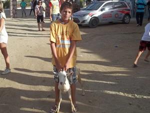 'Fórmula Bode' na categoria mirim foi vencida por criança de 12 anos (Foto: Taiguara Rangel/G1)