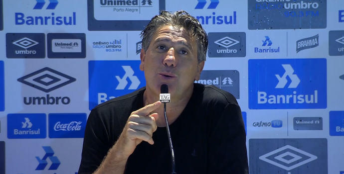 Renato Portaluppi, técnico do Grêmio (Foto: Reprodução SporTV)
