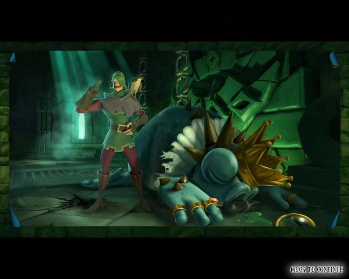 Com belos cenários e animações, o game possui uma série de referências irônicas ao seu tema de fantasia medieval (Foto: Reprodução/Daniel Ribeiro)
