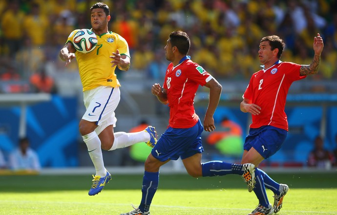 Hulk goil anulado brasil x chile (Foto: Getty Images)