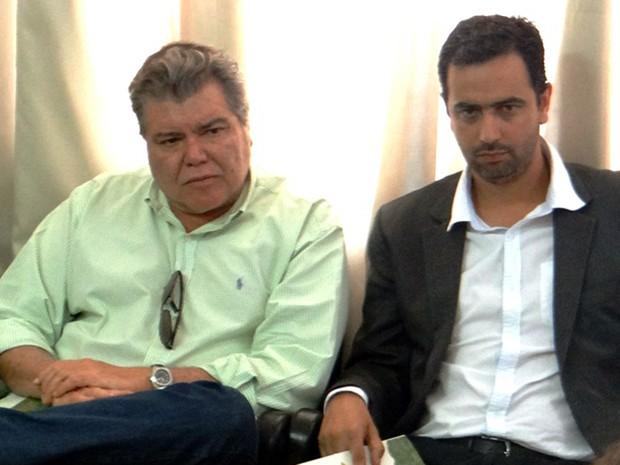 Ministro Sarney Filho e o prefeito de Mariana, Duarte Junior (Foto: Prefeitura de Mariana/Douglas Couto)