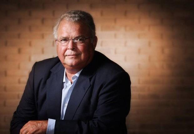 O executivo Emilio Odebrecht durante entrevista em Salvador (Foto: Caio Guatelli/Agência O Globo)