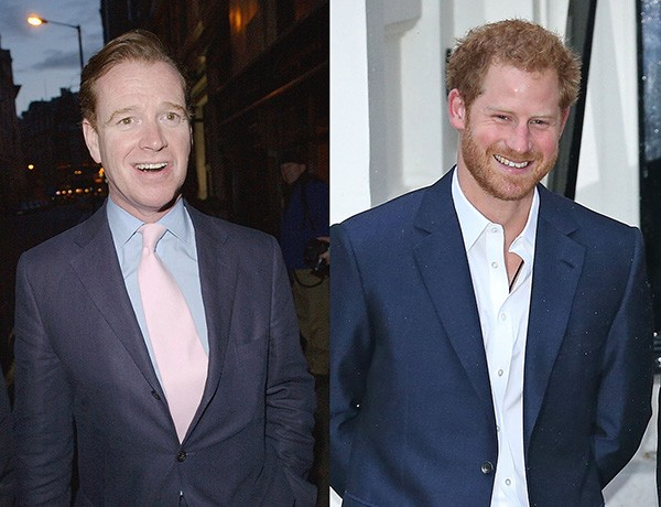 James Hewitt e Príncipe Harry (Foto: Getty Images)