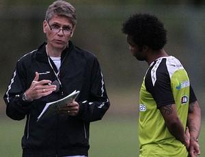 Paulo Autuori e Carlos Alberto treino Vasco (Foto: Marcelo Sadio/Vasco.com.br)