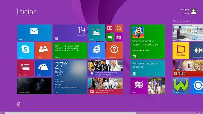 A partir desta terça (12), o Windows 8 deixará de ser atendido pelas atualizações liberadas pela Microsoft (Foto: Reprodução/Carol Danelli)