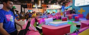 Pinball gigante, museu, autorama... curiosidades da Brasil Game Show (Flavio Moraes/G1)