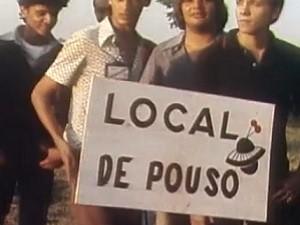 Local onde seria o ponto do pouso na nave chegou a ser sinalizado (Foto: Reprodução / TV Globo)