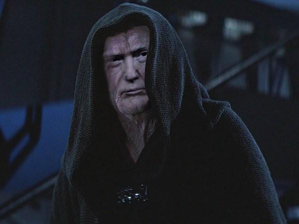 Donald Trump como o Imperador Palpatine (Foto: Reprodução)